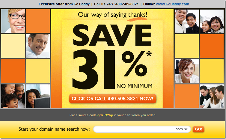 godaddy 31% off promote code no minimum