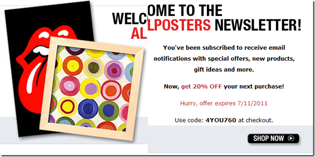 All posters coupon code