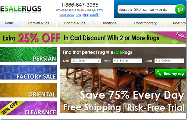 Esalerugs coupon code