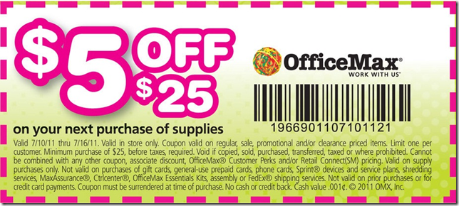 office max printable coupons 2011