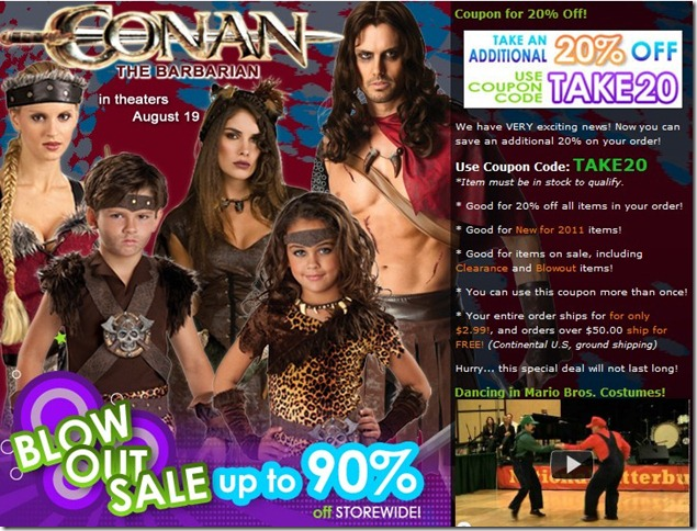 costume craze coupon code 2011