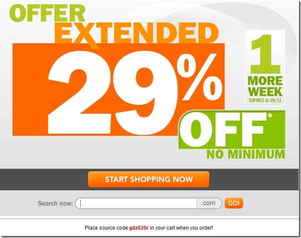 godaddy 29% off promo code august any order
