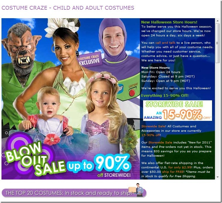 From Halloween costumes for the kids to special costumes suitable for a variety of occasions, Costume Craze has it all. The site even offers costumes for babies and dogs, plus it features a comprehensive selection of accessories such as wigs, hats and makeup. If you are interested in purchasing a costume from Costume Craze, but you are on a.