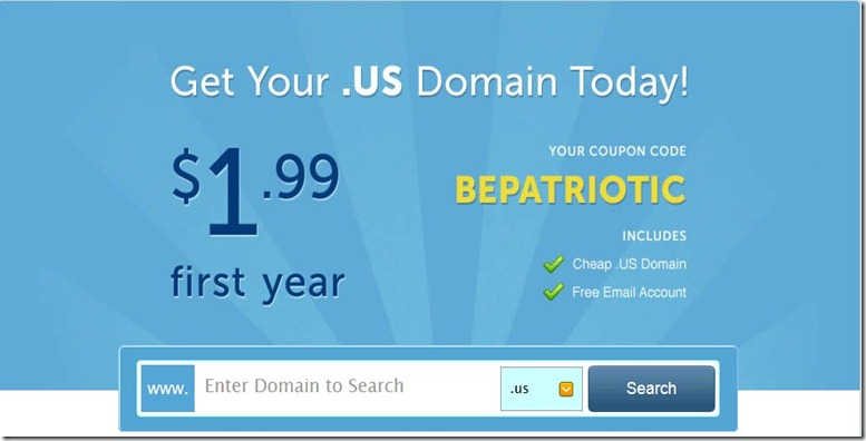 namecheap promo code .us is just 1.99 dollar for the first year