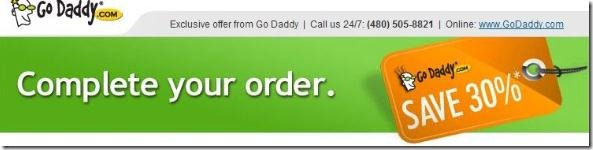 godaddy promo code 30% off Black Friday 2011