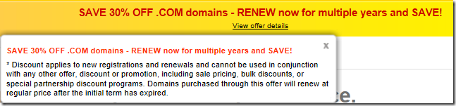 godaddy coupon code for domain renewal January 2012