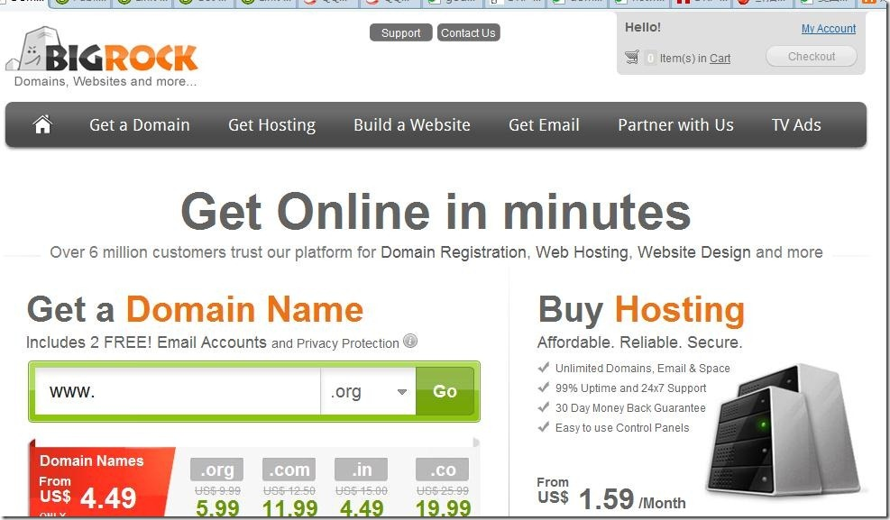 BigRock.com coupon 35% off hosting june 2012