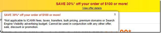 godaddy coupon code 30% off june 2012