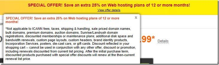 godaddy promo code hosting june 2012 25% off
