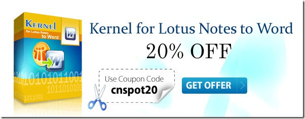 Kernel For Lotus Notes To Word coupon code