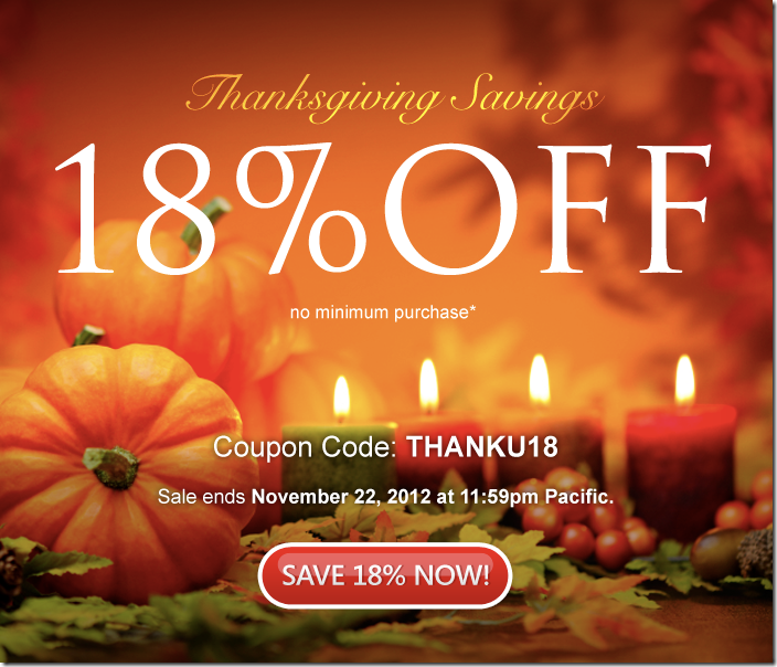domain.com coupon Thanksgivings Savings 2012