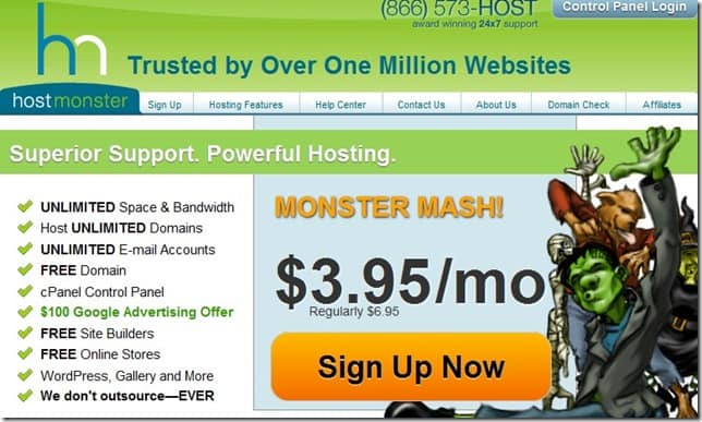 hostmonster coupon code November 2012