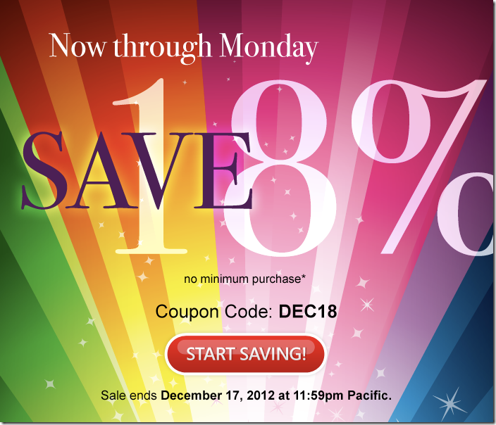 domain.com 18% off coupon December 2012