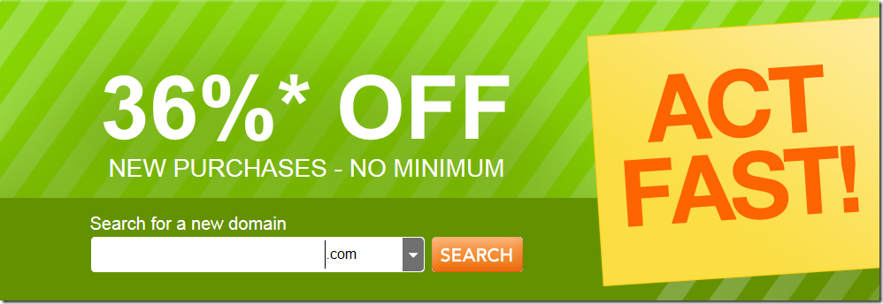 godaddy coupon code 36% off December 2012