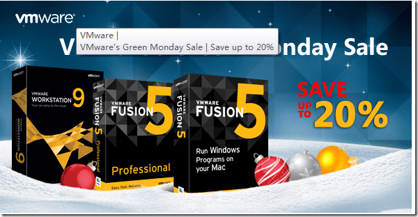 vmware promo code Green Monday 2012