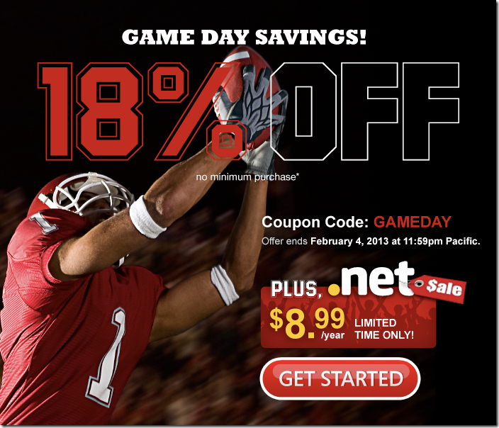 domain.com 18% off coupon code February 2013