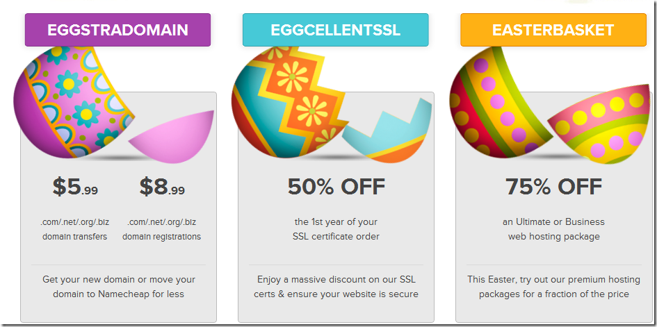 namecheap easter coupon code 2013