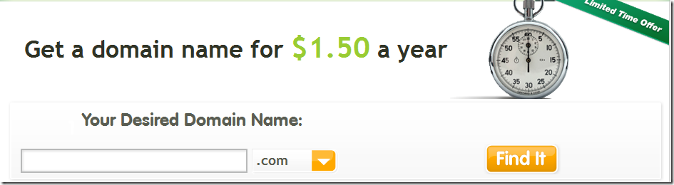 register.com $1.5 domain promo code April 2013