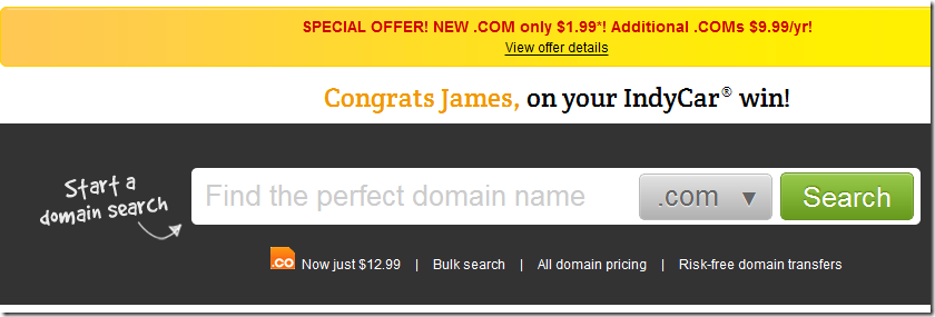 godaddy $1.99 domain coupon code may 2013