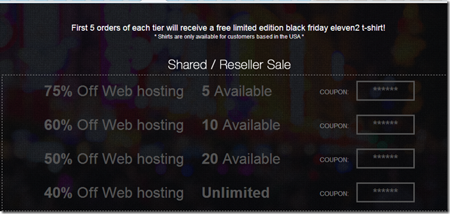 eleven2 black friday promo code 2013