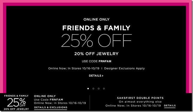saks fifth avenue promo code October 2014