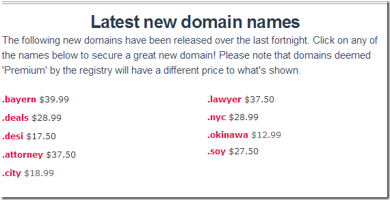OnlyDomains Free Domains & Great Deals October 2014