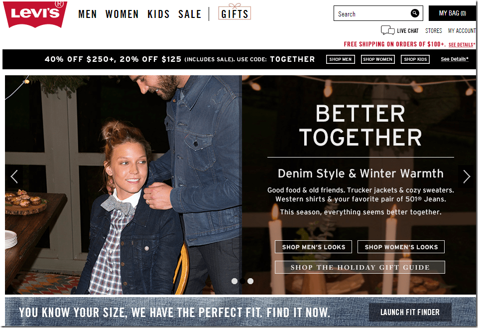 levis coupon code November 2014 20% off $125 40% off $250