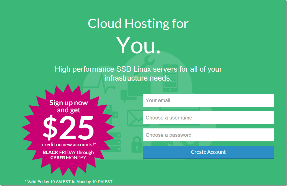 linode black friday coupon code 2014 $25 credit