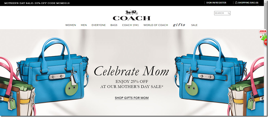 Coach coupon code may 2016 mother's day